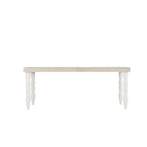 Epicenters 33127 Upholstered Gray Wash and Gloss White 76-Inch Wakefield Dining Table