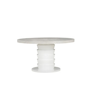 Epicenters 33127 Upholstered Gray Wash 54-Inch Round Dining Table
