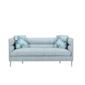 Epicenters 33127 Upholstered Blue 79-Inch DeCarlo Sofa