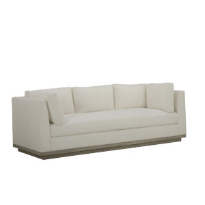 Epicenters 33127 Upholstered Gray Wash 92-Inch Cruz Sofa