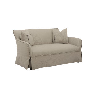 American Chapter Beige 68-Inch Tryon Flax Settee