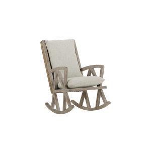 Summer Creek Scrubbed Oak 41-Inch Inland Mist Rocking Chair