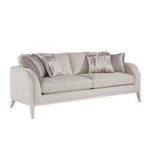 La Scala Ivory 87-Inch Channel Sofa