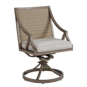 Summer Creek Pampas 39-Inch Outdoor Swivel Rocker Dining Chair