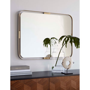 Brass Metal 32-Inch Hera Mirror