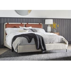 Gray Queen Kirkeby Upholstered Bed