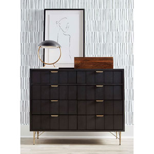 Dark Gray 50-Inch Lehn Double Dresser