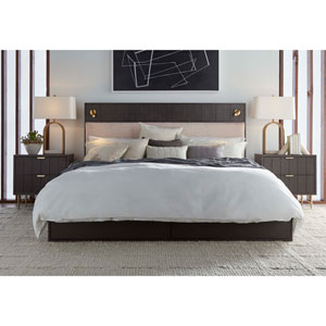 Dark Gray King Faber Platform Storage Bed