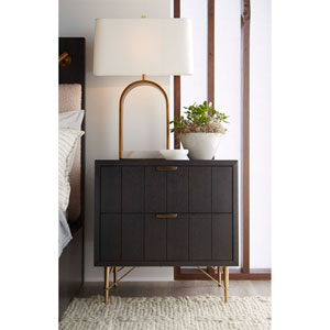Dark Gray 26-Inch Lehn Nightstand