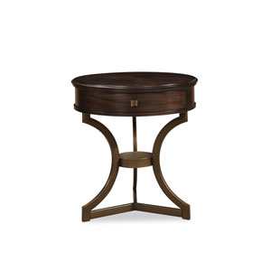 Intrigue Grey Round End Table