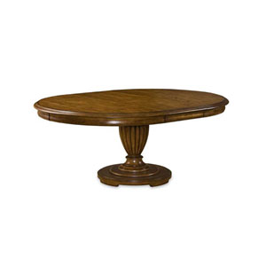 Provenance Pine Round Table Set with English Toffee and Linen Apron