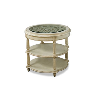 Provenance Pine Decorative Round Lamp Table