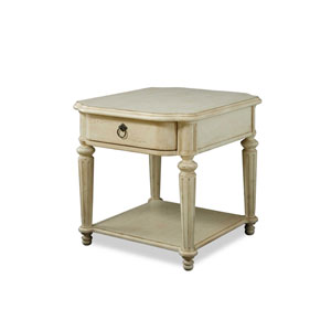 Provenance Pine Round Drawer End Table