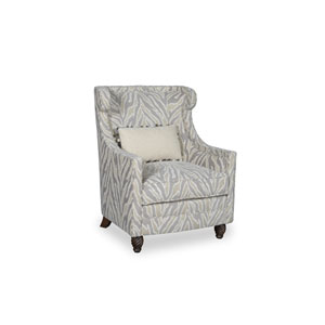 Amanda Ivory Accent Chair with Kidney Pillow