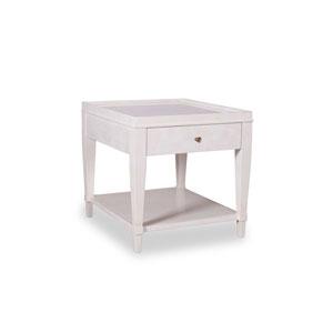 Cosmopolitan Parchment White End Table