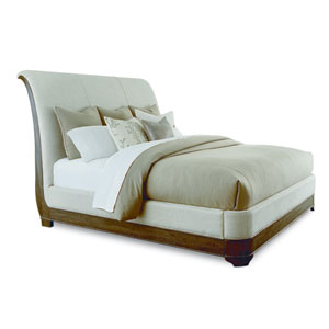 St. Germain Eastern King Upholstered Platform Sleigh Bed