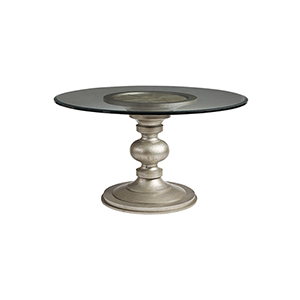 Morrissey Wallen Round Dining Table With 54-Inch Glass Top