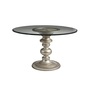 Morrissey Wallen Round Dining Table With 60-Inch Glass Top