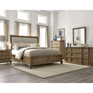 Pavilion Queen Upholstered Sleigh Bed