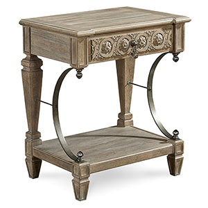 Arch Salvage Gabriel Bedside Table - Parch