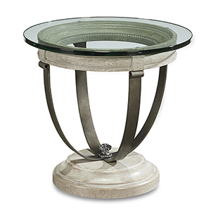 Arch Salvage Moss Lamp Table - Mist