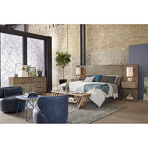 Epicenters Austin Cedar Park Wall Queen Panel Bed with Nightstand