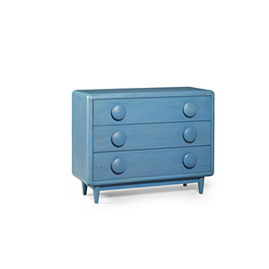 Epicenters Austin University Hills Blue Drawer Chest