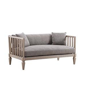 Roseline Upholstered Ana Settee-Light Gray