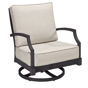 Morrissey Outdoor Sullivan Swivel Rocker Club Chair  Set of Two