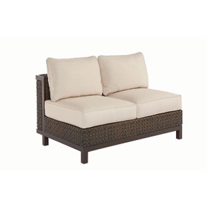 Epicenters Outdoor Brentwood Wicker Armless Loveseat