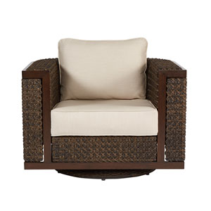 Epicenters Outdoor Brentwood Wicker Swivel Rocking Club Chair
