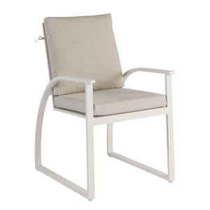 Cityscapes Outdoor Claidon Cushion Sling Dining Chair Set of Two
