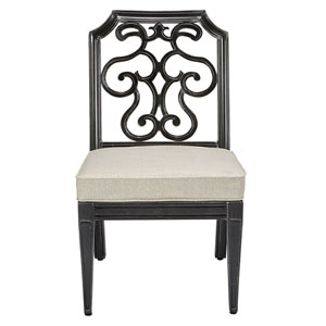 Arch Salvage Outdoor Gabrielle Armless Dining Chair, Set of Two