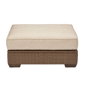 Arch Salvage Outdoor Florence Wicker Ottoman
