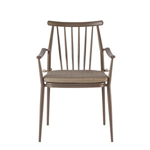 Epicenters Austin Outdoor Darrow Brown Arm Chair, Set of Two