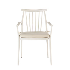 Epicenters Austin Outdoor Darrow White Arm Chair Set of Two