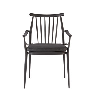 Epicenters Austin Outdoor Darrow Black Arm Chair Set of Two