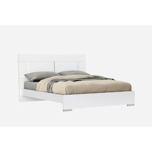 Kimberly Gloss White King Bed