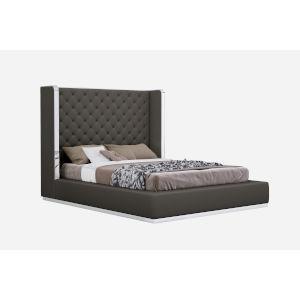 Abrazo Dark Gray Queen Bed