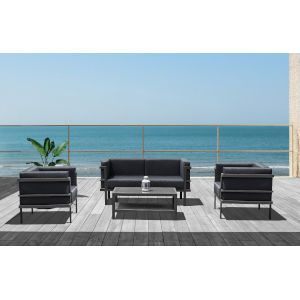 Angelina Gray Outdoor Furniture Set, 4-Piece