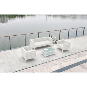 Angelina White Outdoor Furniture Set, 4-Piece