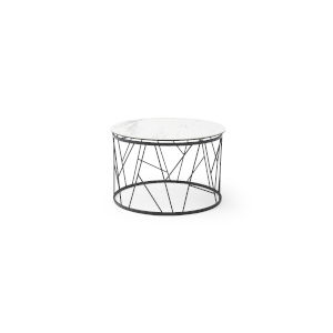 Zeus White and Black Coffee Table