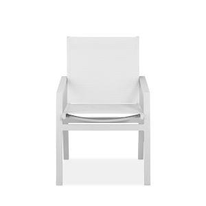 Rio Matte White Outdoor Armchair