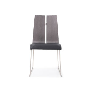 Lauren Gray and Black Dining Chair