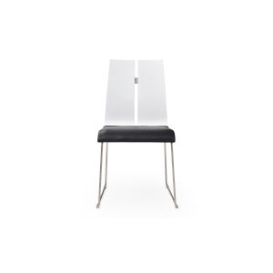 Lauren Gloss White and Black Dining Chair