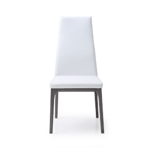Ricky White and Gray Dining Chair