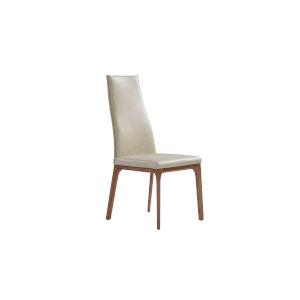 Ricky Taupe and Walnut Dining Chair
