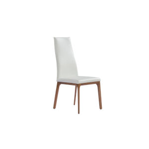 Ricky White and Walnut Dining Chair
