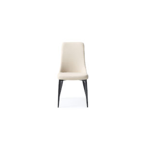 Luca Taupe and Matte Black Dining Chair