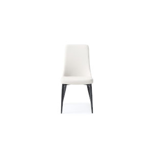 Luca White and Matte Black Dining Chair